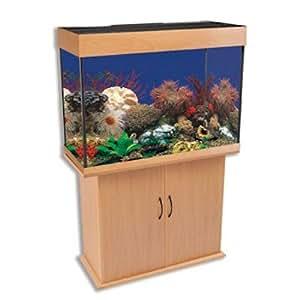 Penn plax lla7b k delta queen iii 58 gallon rectangular for Rectangle fish tank
