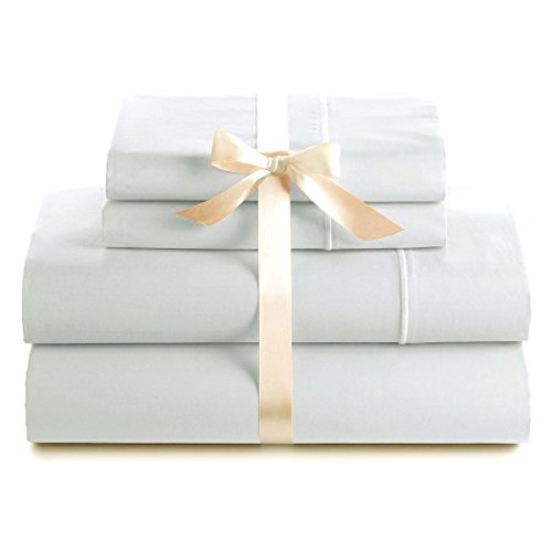 Italian 400 Thread Count Solid 4Pc Twin Xl Sheet Set (White) By Bed&Linen front-991220