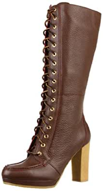 Rockport Women's Courtlyn Laced Boot,Cigar,6 W US