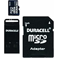 Duracell Micro SD Memory Card With SD And USB Adapter-8GB MICRO SD MEMORY CARD