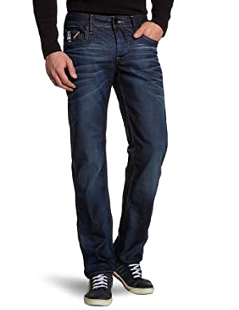 G-Star Attacc Low Straight - Jeans - Homme, Bleu (Dark Aged 4639), FR : 28W/32L (Taille fabricant : 28/32)