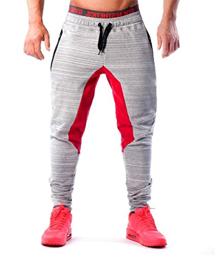 Ouber-Mens-Fitted-Shorts-Bodybuilding-Workout-Gym-Running-Jogger-Pants