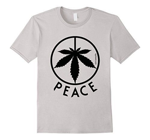 Peace-Sign-Weed-Cannabis-Leaf-Hippie-Marijuana-Love-T-Shirt