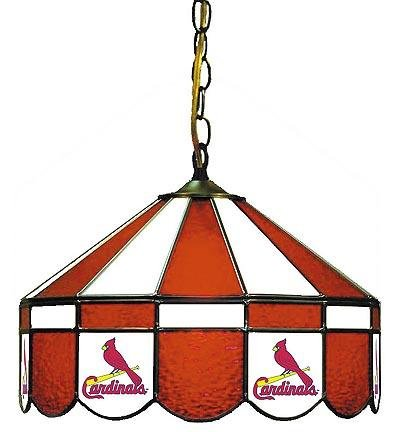 MLB St. Louis Cardinals 16-Inch Diameter Stained Glass Pub Light at Amazon.com