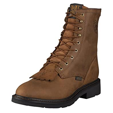 Innovative Ariat Leather Dark Brown Lace Up Ankle Riding Womens Boots 7 M Paddock
