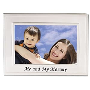 Lawrence Frames Sentiments Collection, Brushed Metal 4 by 6 Me and My Mommy Picture Frame