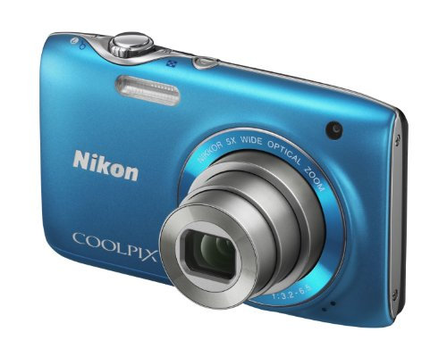 Nikon Coolpix S3100 Digital Camera – Blue (14MP,