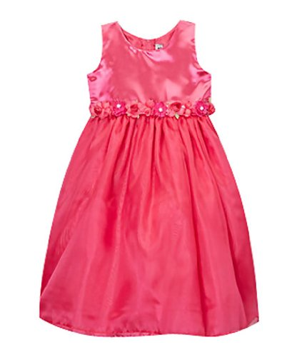 Classykidzshop Coral Satin Flower Girl Special Event Holiday Dress - 10