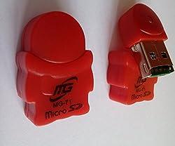 AKSHAJ Cute Teddy Shape USB Micro SD Card Reader (Colors May Vary)