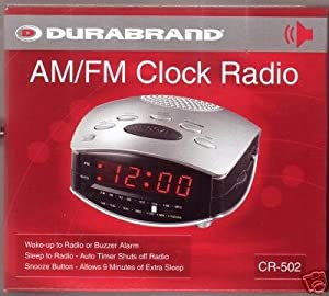 durabrand am fm radio alarm clock everything else. Black Bedroom Furniture Sets. Home Design Ideas