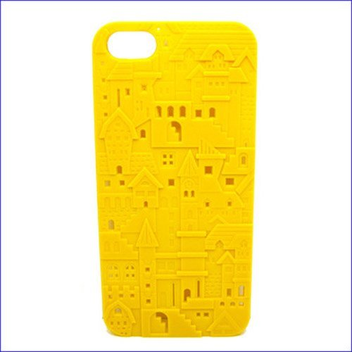 HJX Yellow iphone 4/4S New 3D Carven Castle Style Design Hard Case For Apple Iphone 4 4G 4S (Hello Kitty Chrome Book Cover compare prices)