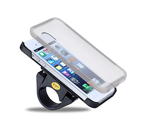 Ipow Bike Bicycle Bikemate Sports Shock-Protected Mount Handlebar Holder Cradle Stand Case + Wheather Resistant Waterproof Ridecase For Iphone 5 5S - Black front-50666