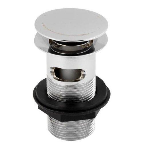 Chrome Bathroom Sprung Plug Basin Sink Waste EK303