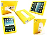 Emartbuy® New Ipad 3 & Apple Ipad 2 Yellow Dual Layer Armoured Case / Cover with Potrait / Landscape View Stand (All versions Wi-Fi and Wi-Fi + 3G/4G - 16GB 32GB 64GB)