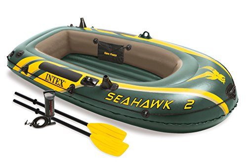 Intex Seahawk 2, 2-Person Inflatable Boat Set with French Oars and High Output Air Pump (Intex Seahawk Ii Boat Set compare prices)