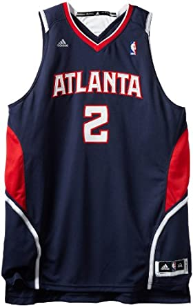NBA Atlanta Hawks Joe Johnson Revolution 30 Road Swingman Jersey H Size by adidas