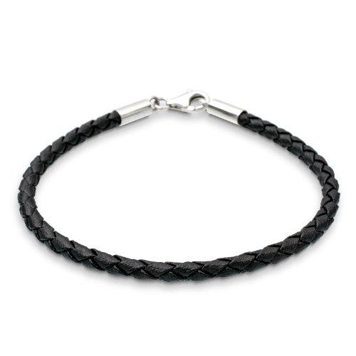 f976361859b3 Elli - 02000748 19 - Bracelet Femme - Argent 925 1000 - Cuir