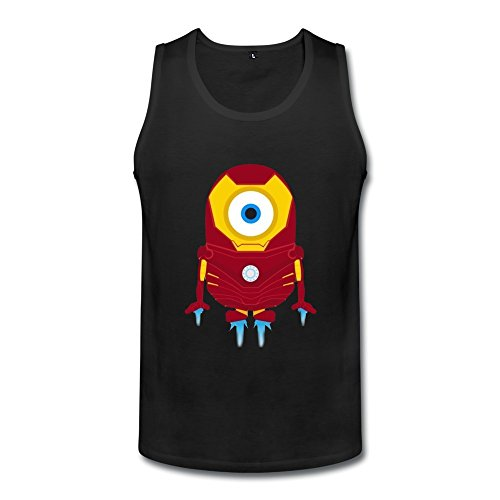 Men's Cool Funny Minions Iron Man Cotton Tank Top