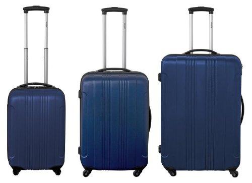 ABS Trolley Koffer Set 3tlg. Blau