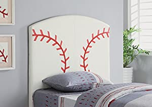 Kid Youth Baseball Twin Size Bed Headboard