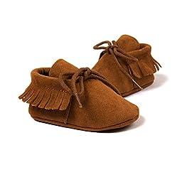 GZYIBU Infant Baby Mocassins Premium Soft Sole Tassels Anti-Slip Summer Prewalker Toddler Sandals