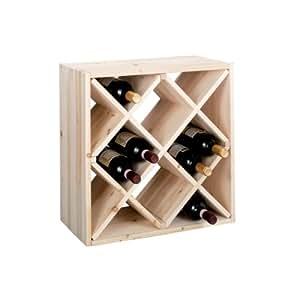 Zeller 13171 scaffale portabottiglie diamante 52 x 25 x 52 casa e cucina - Portabottiglie in legno ikea ...
