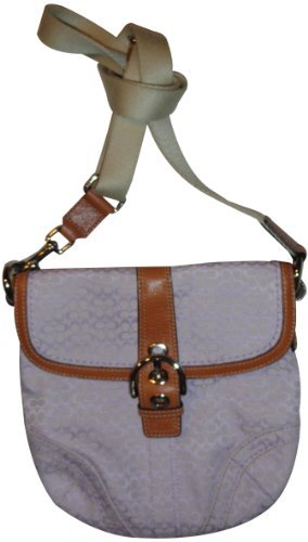 Women's Coach Purse Handbag Soho Mini Signature Swingpack Crossbody Lilac