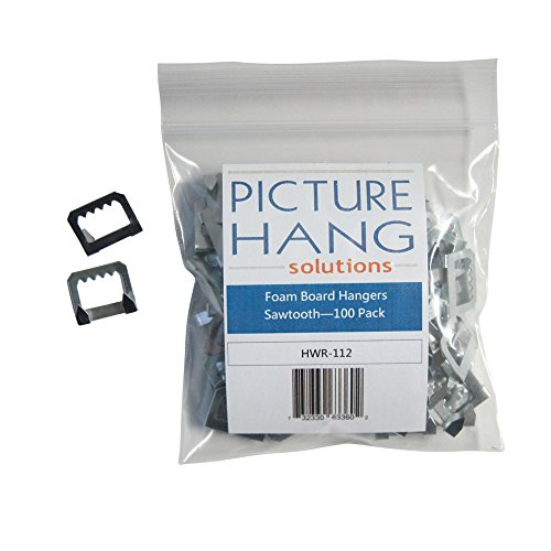 foam board hangers metal sawtooth 100 pack office