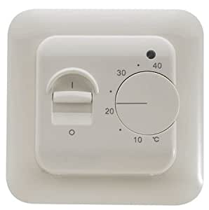 sm pc thermostat fu bodenheizung elektroheizung unterputz wei 830 baumarkt. Black Bedroom Furniture Sets. Home Design Ideas