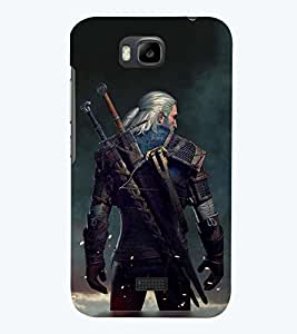 PRINTSWAG WARRIOR MAN Designer Back Cover Case for HUAWEI HONOR BEE