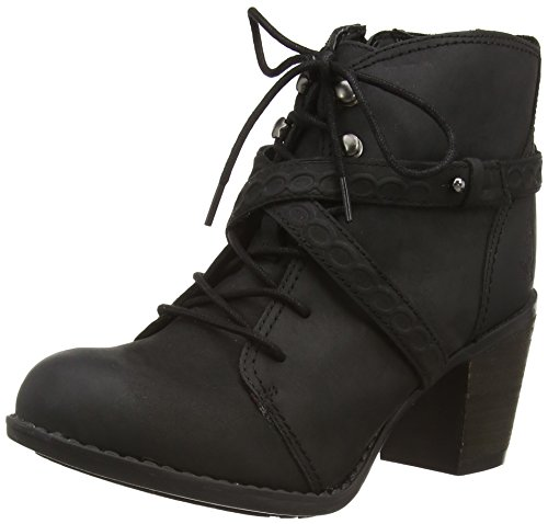 Hush Puppies Gitte Moorland,  Nero Black (Black Waxy Leather) 38