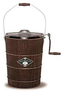 White Mountain PBWMIMH612-SHP Appalachian Series Wooden Bucket 6-Quart Hand Cranked Ice Cream Maker