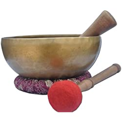 "8""Amazing Solar Plexus Chakra Tibetan Singing Bowl-Handmade singing bowl , Singing bowl from Nepal,meditation bowls."