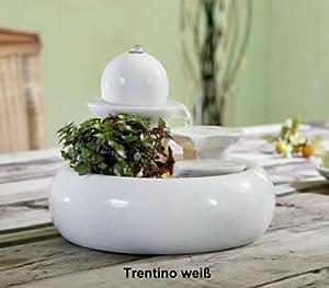 Zimmerbrunnen Trentino weiß aus Keramik von Seliger    Überprüfung und Beschreibung