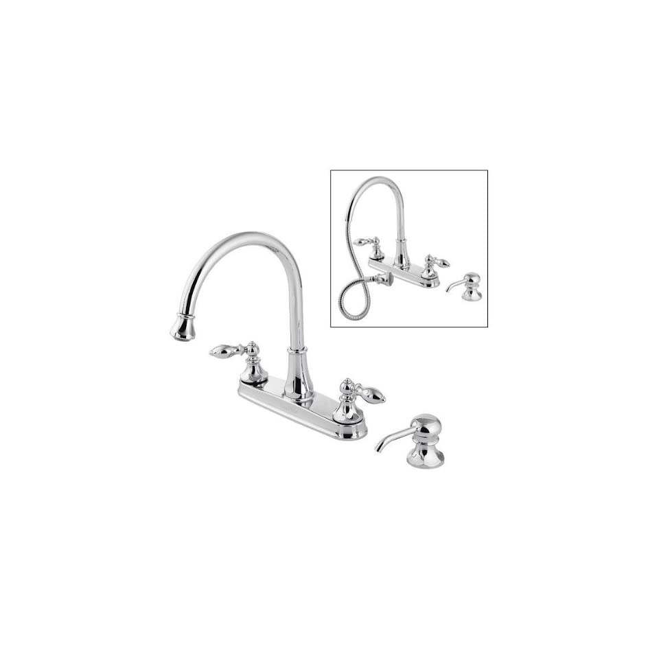 Price Pfister T536 EBS Catalina Kitchen 4 hole, with Pull Out Sprayer, Metal Lever Handles, Stainles