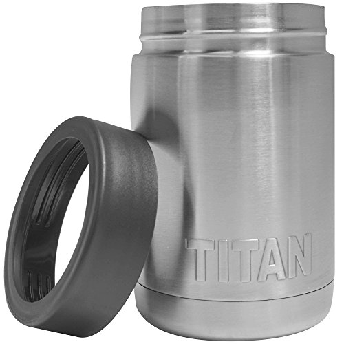 Titan Stainless Steel 12oz Can Cooler Cup Beverage Holder Double Wall Insulation (12 Can Beverage Cooler compare prices)