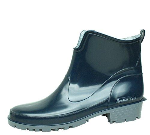 BOCKSTIEGEL® ELKE Donna - Stivali di gomma alla moda (Taglie: 36-43), Colori:Dk-Blue/Grey;Dimensioni:38