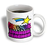 3dRose mug_201413_1 Shooting Star Rainbow Awesome Spanish Teacher Ceramic Mug - 11-Ounce