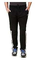Spunk Men Cotton Blend Track Pant (1000537482008_Black_L)