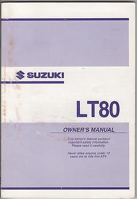 2003 Suzuki Atv 4 Wheeler Lt80 P/N 99011-40B67-03A Owners Manual (568) front-1029796