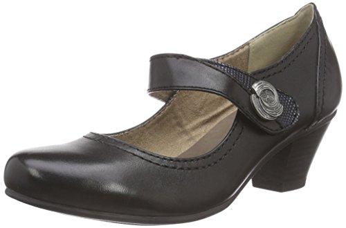 Jana24301 - Scarpe con Tacco Donna , Nero (Nero (Black 001)), 40