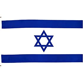 Israel National Country Flag - 3 foot by 5 foot Polyester (New)