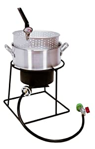 King Kooker 1205 12-Inch Propane Outdoor Cooker Set with Fry Pan from King Kooker