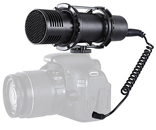 Movo VXR400 Professional Broadcast HD Condenser Stereo X/Y Capsule Microphone for DSLR Video Cameras (Camera Condenser Microphone compare prices)