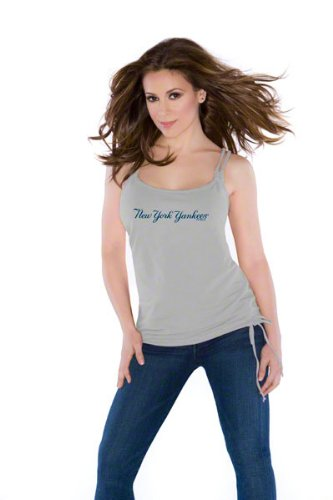 New York Yankees Women's Braided Tank Top - By Alyssa Milano at Amazon.com