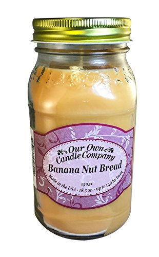 Banana Nut Bread Scented Mason Jar Candle by Our Own Candle Company, 18 Ounce (Banana Nut Bread Candle compare prices)