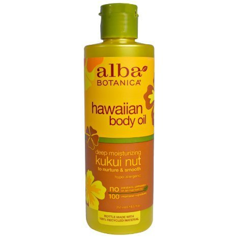 ALBA BOTANICA MASSAGE OIL,KUKUI NUT, 8.5 FZ