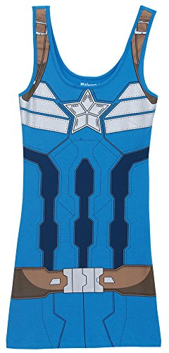 Costume -- Captain America: The Winter Soldier Juniors Tank-Top Shirt