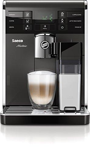 Saeco HD8869/11 Moltio Premium Kaffeevollautomat, austauschbarer Bohnenbehälter, integrierte Milchkaraffe, schwarz thumbnail