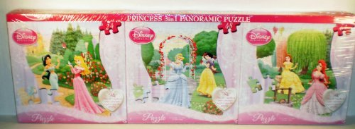 Disney Princess 3 in 1 Panoramic Puzzle